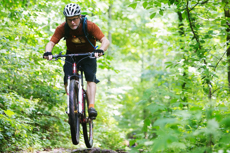 Your adrenaline will surge as you weave through more than 30 miles of single-track and dirt trails that weave and wind through 780 acres of Haw Ridge Park.