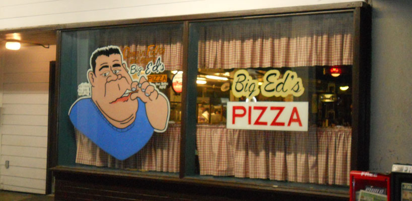 big ed's pizza window paint