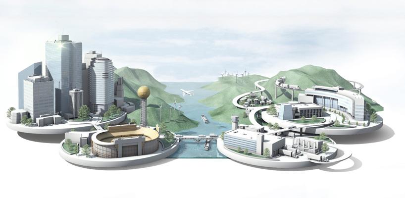 3d city rendering