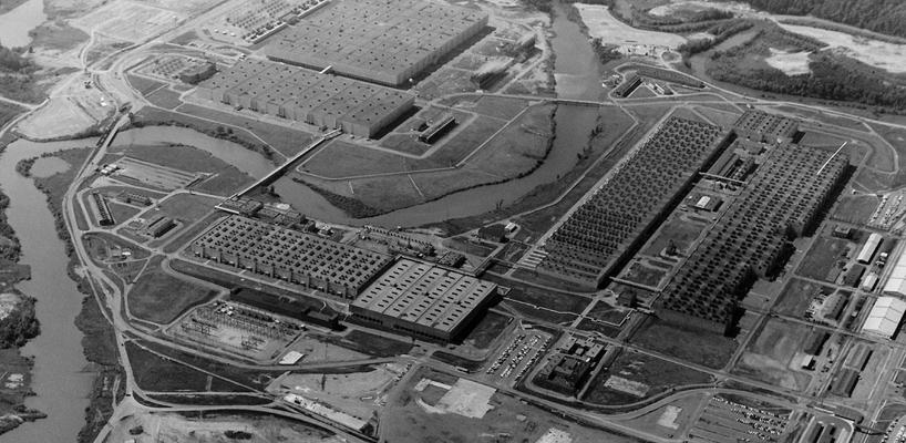 aerial view of oak ridge's y 12 plant