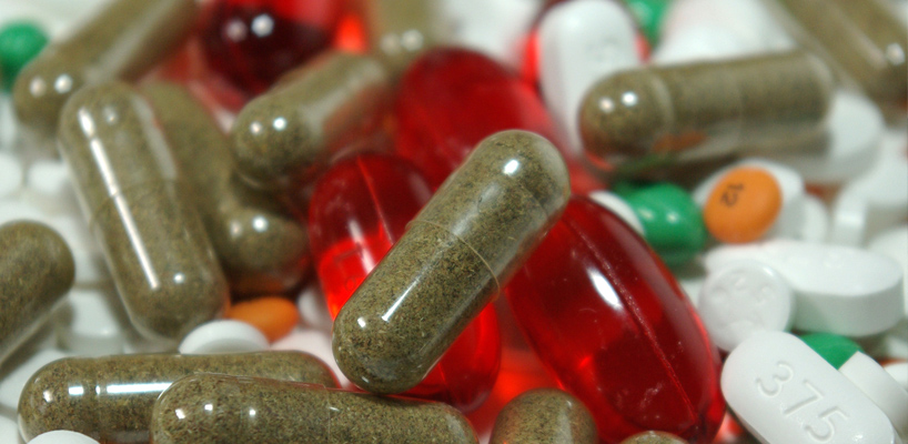 close up of various medications and pills