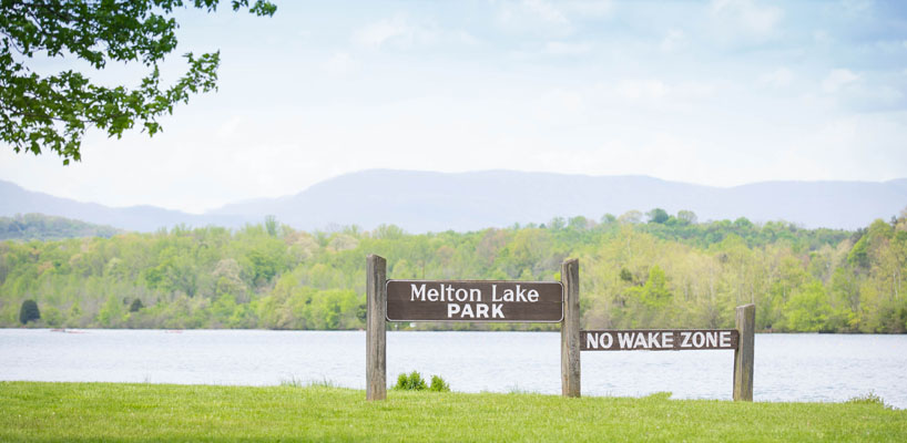 melton lake park sign in oak ridge tn