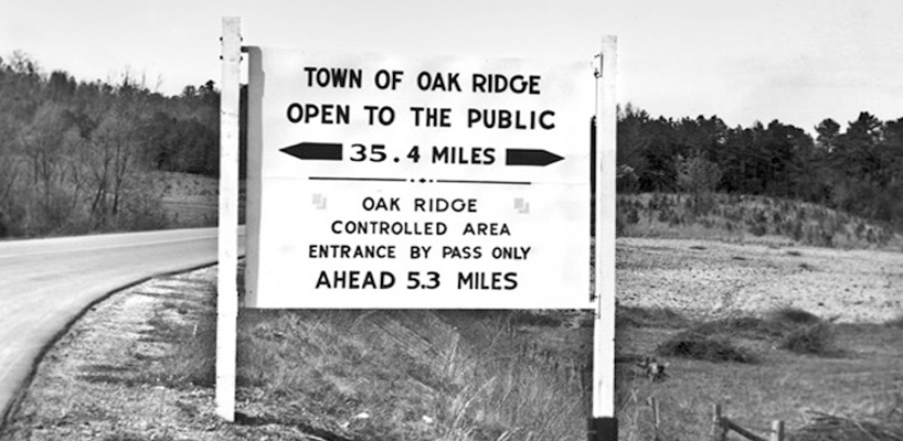oak ridge public sign