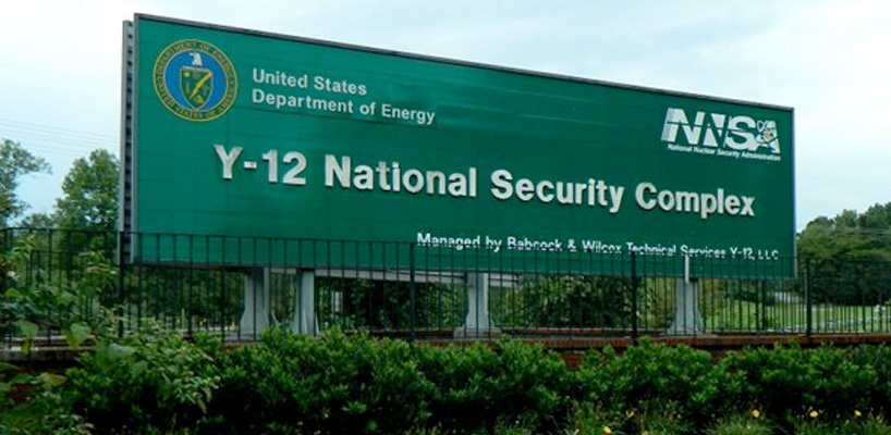 y-12 national security complex sign