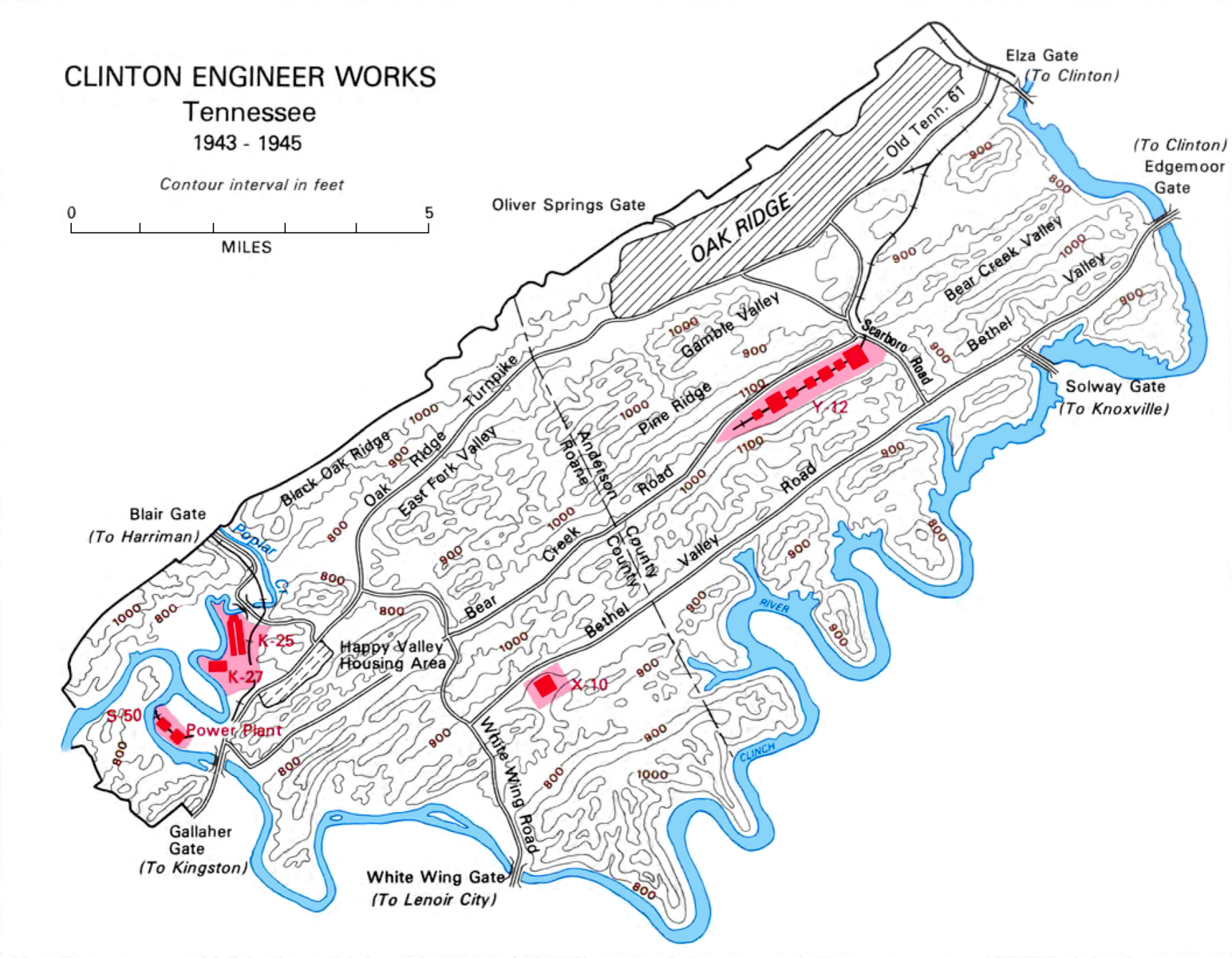 clinton engineer works map