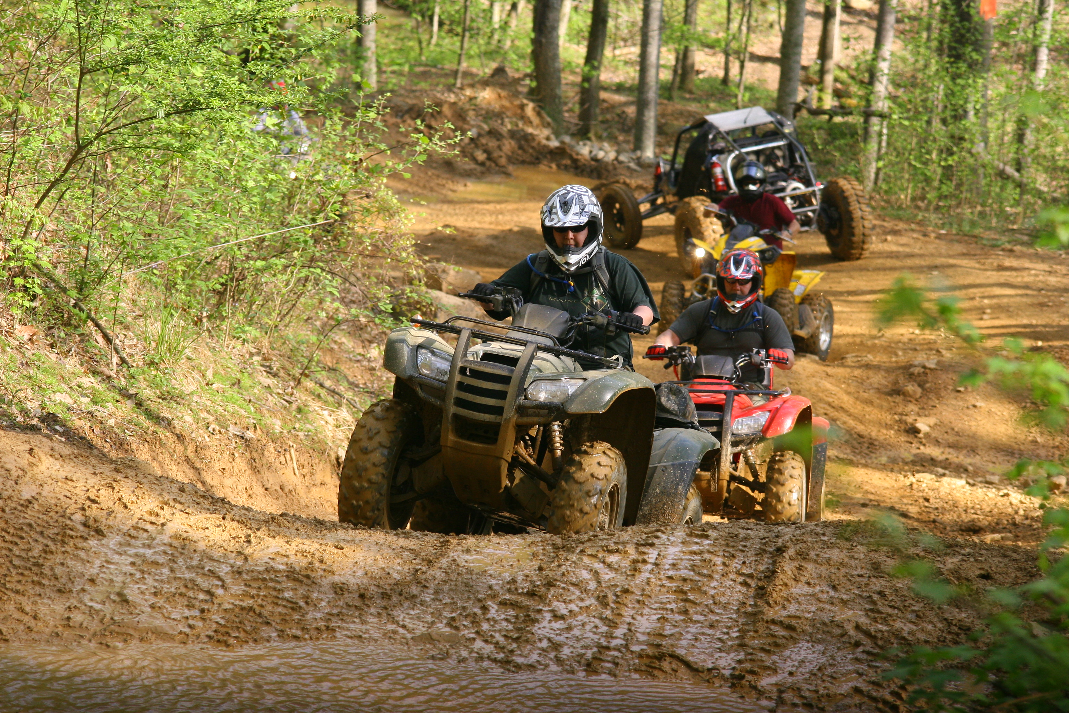 ATVs in windrock park tn