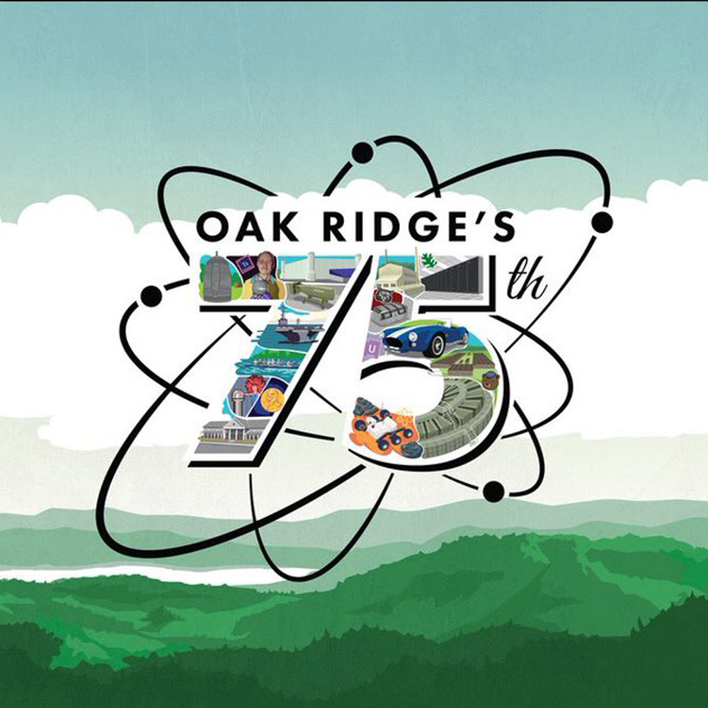 oak ridges 75th colorful logo