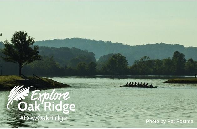 explore oak ridge logo with lake view in back