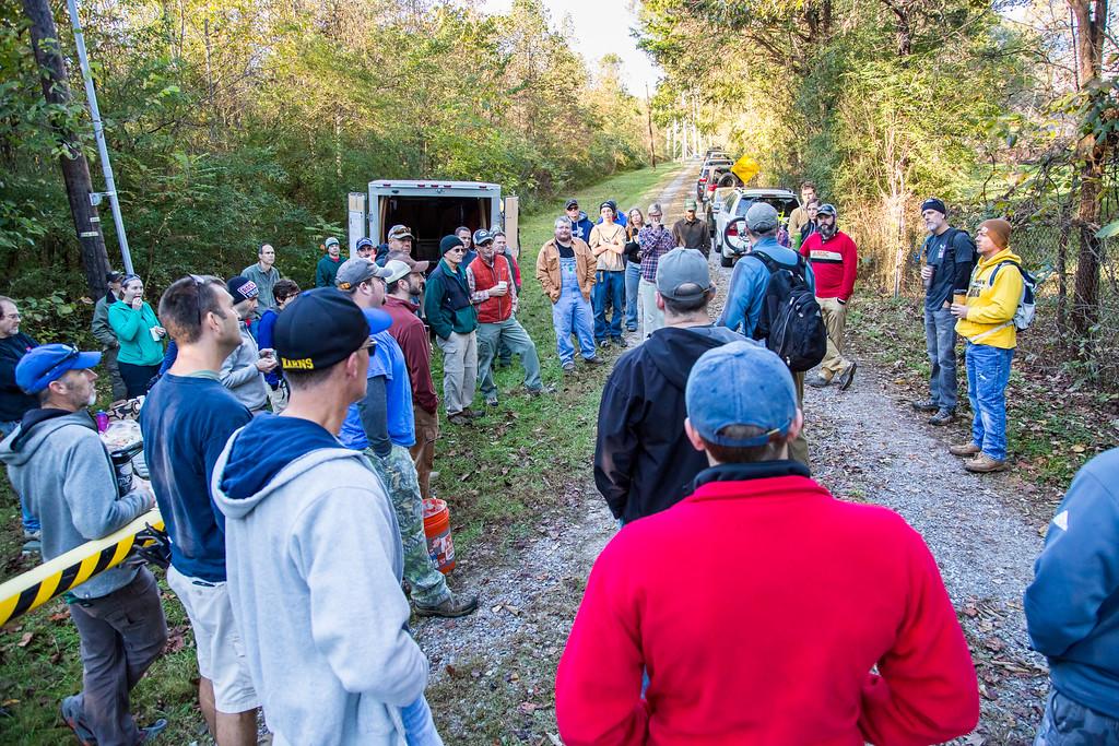 group of adults outside in oak ridge tn