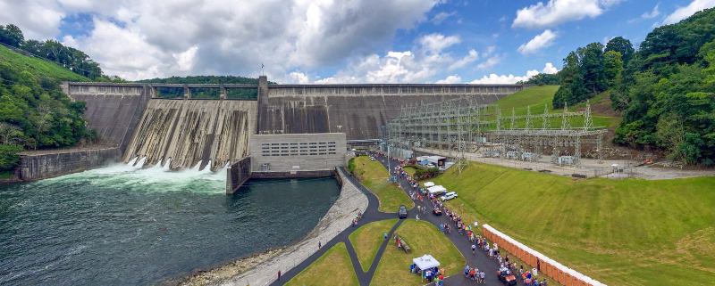 front view of norris dam