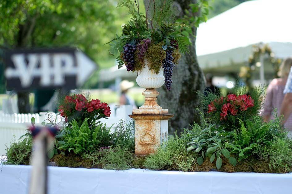 flower art at the nine lakes festival