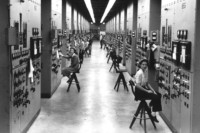 Women working at calutrons in Oak Ridge as part of the Manhattan Project.