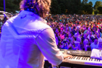 A concert at the Secret City Festival in Oak Ridge TN