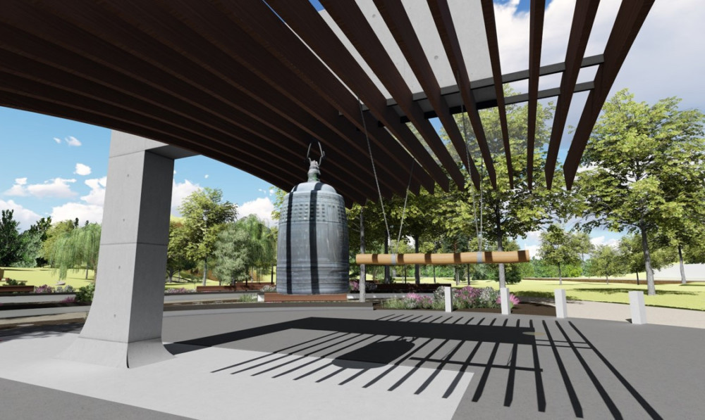 A rendering of the Peace Pavilion in Oak Ridge.